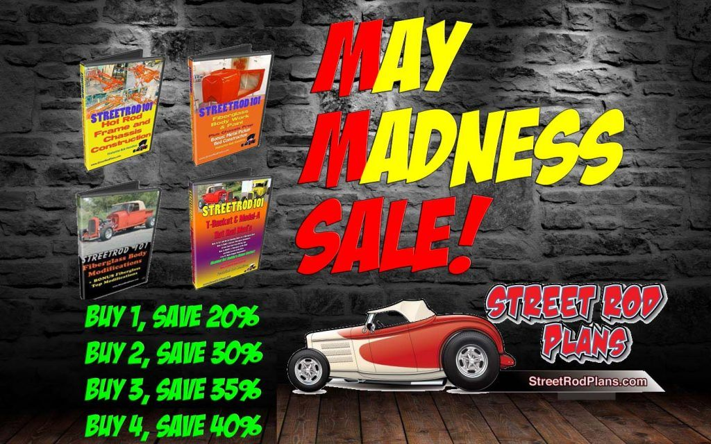 Save BIG on the entire StreetRod 101 DVD Library -- This Month ONLY!