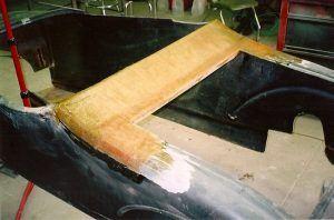 Fiberglass Body Repair on 1927 T Street Rod Project